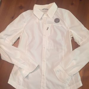 Columbia small camp shirt white